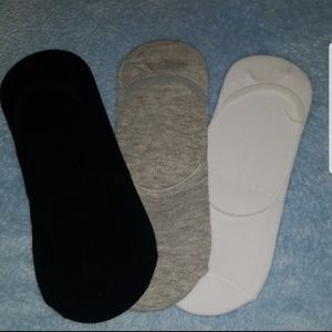 3 PAIRS OF GREAT QUALITY NO SHOW SOCKS